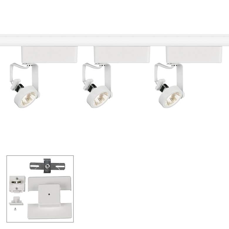 Juno 3-Light White Gimbal Bullet Floating Canopy Track Kit
