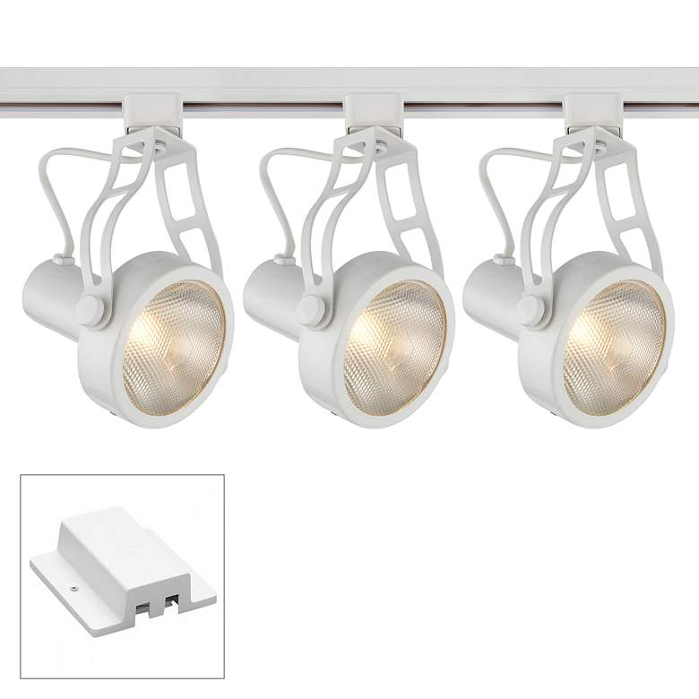 Halo Compatible Single Circuit 4 Foot White Track Fixture
