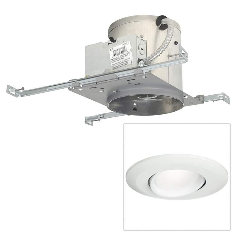 "6"" IC New Construction 15W LED Eyeball Recessed"