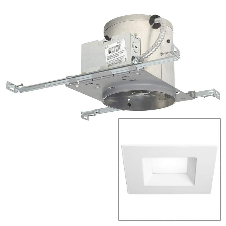 6 Ic New Construction 15w 900 Lumen Led Recessed Light Kit