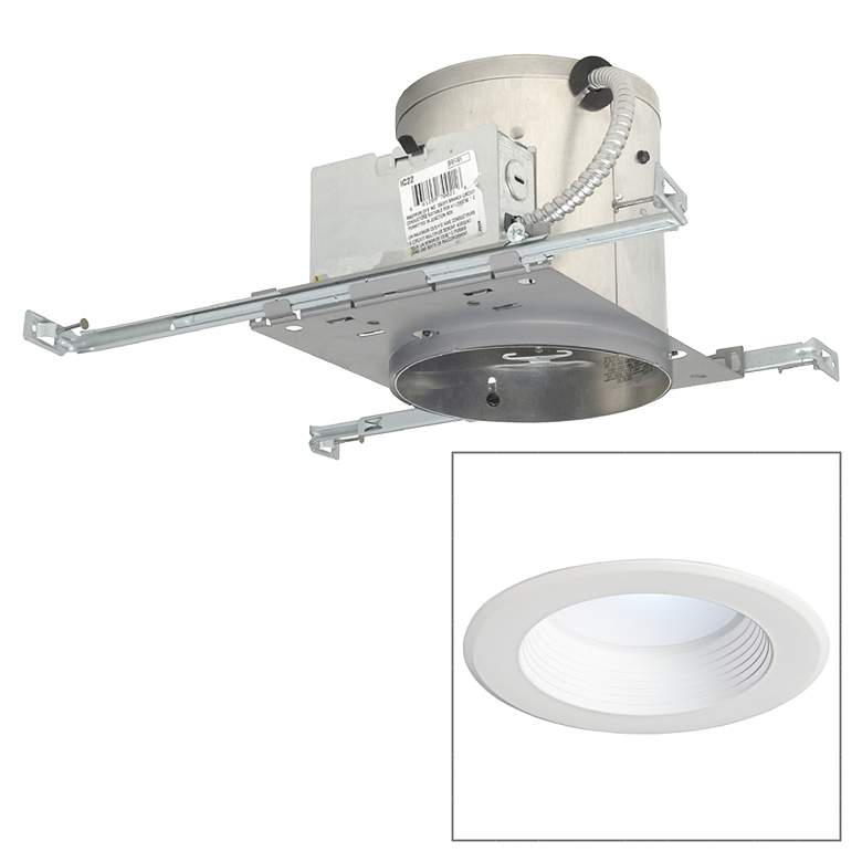 "6"" IC New Construction 12W 850 Lumen LED Recessed Light Kit"