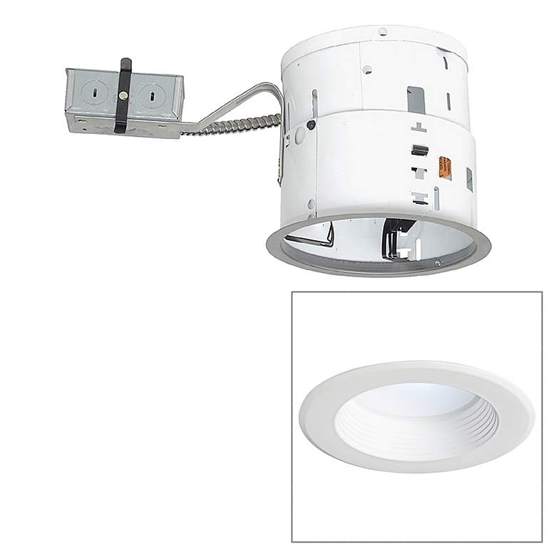 """6"""" Non-IC Remodel 12W 850lm LED Complete Recessed Light Kit"""