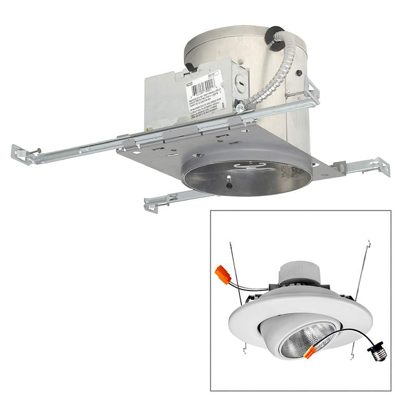 """6"""" IC New Construction 19W LED Complete Recessed Light Kit"""