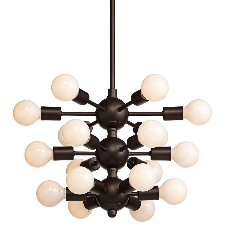 "Douglas 25""W Bronze 18-Light Chandelier with White G25 Bulbs"