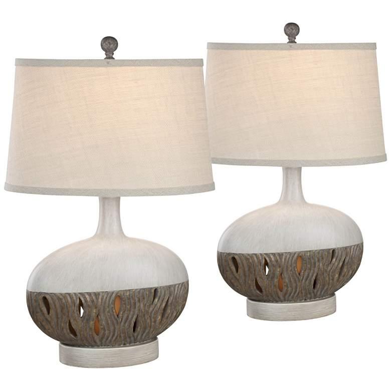 Brooke Husk Night Light Table Lamps Set of 2