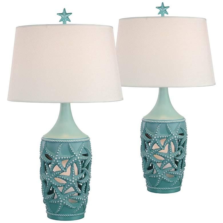 Tide Boca Coastal Night Light Table Lamps Set