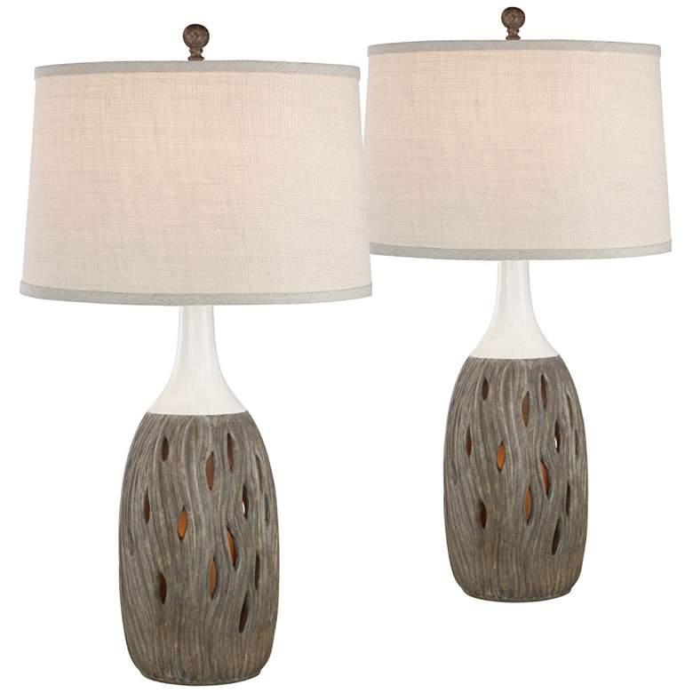 Omura Husk Night Light Table Lamps Set of