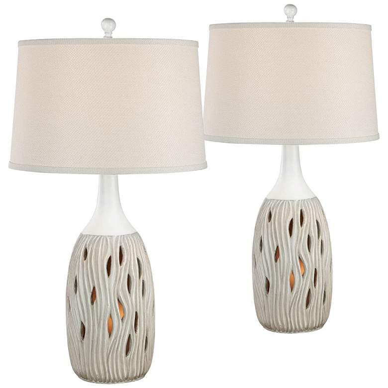 Omura Oyster Matte Night Light Table Lamps Set