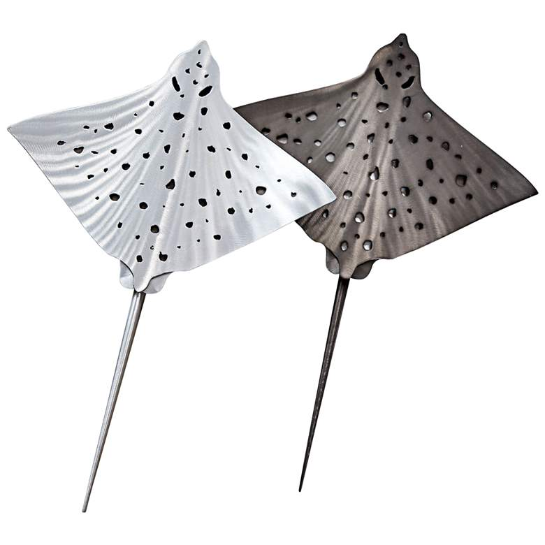 "Eagle Rays Pair 30"" High Outdoor Metal Wall"