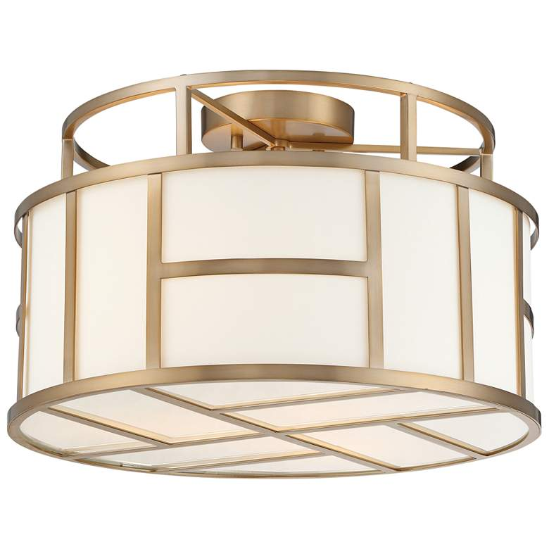"""Crystorama Danielson 16 1/2"""" Wide Vibrant Gold Ceiling Light"""