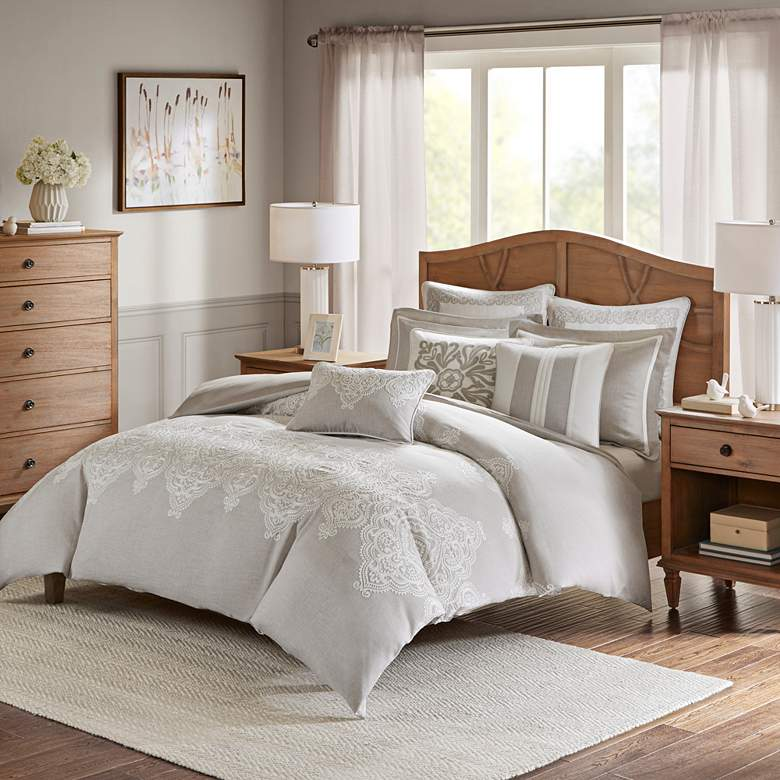 Barely There Natural 8-Piece Queen Comforter Set