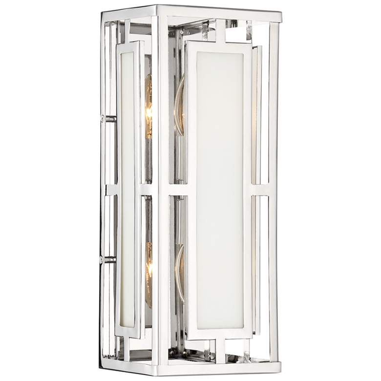 "Crystorama Hillcrest 15"" High Polished Nickel Wall Sconce"