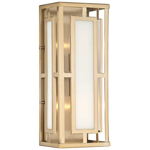 "Crystorama Hillcrest 15"" High Vibrant Gold Wall Sconce"