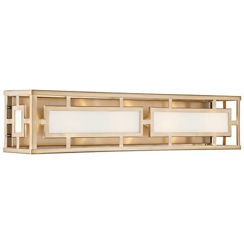 "Crystorama Hillcrest 28 1/4"" Wide Vibrant Gold Bath Light"