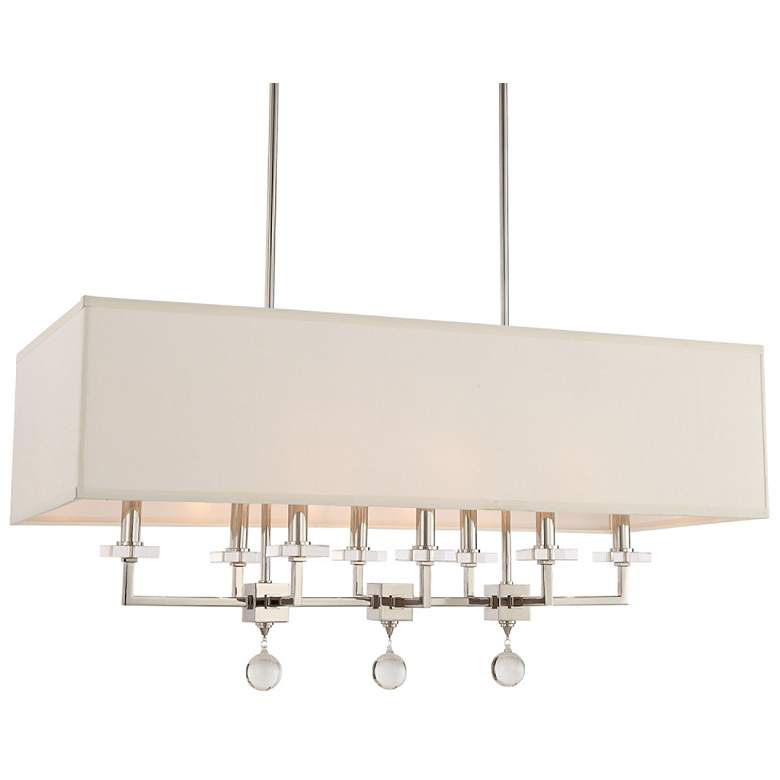 "Paxton 38""W Polished Nickel Kitchen Island Light Chandelier"