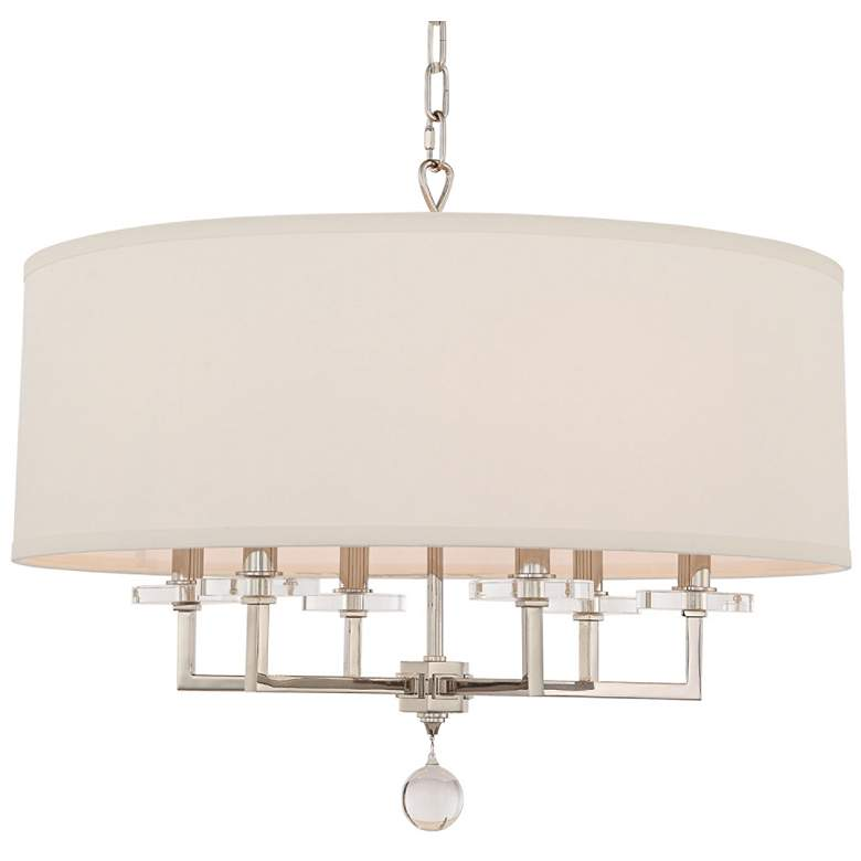 "Paxton 25 3/4"" Wide Polished Nickel 6-Light Chandelier"