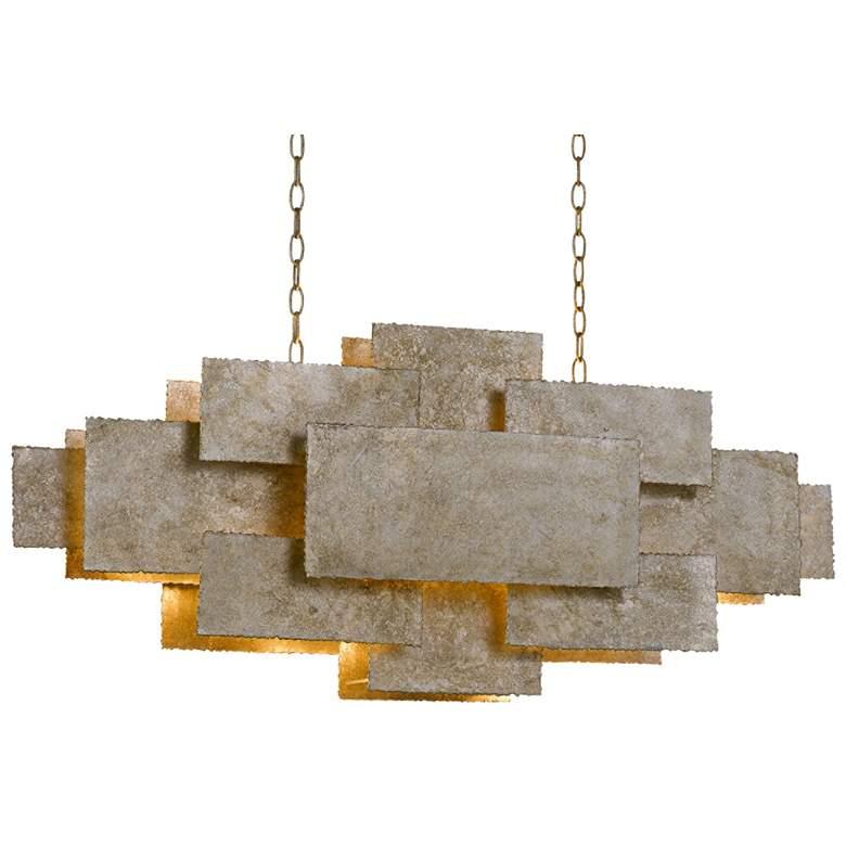 "Bronson 45 1/2"" Wide Silver Kitchen Island Light Pendant"