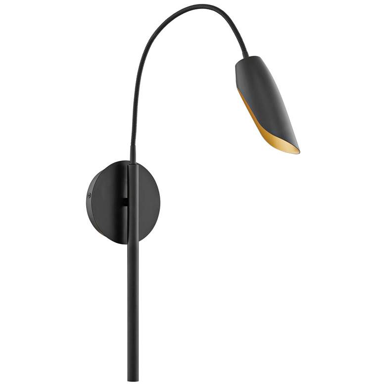 """Hinkley Bowery 32 1/2"""" High Black Steel LED Wall Sconce"""