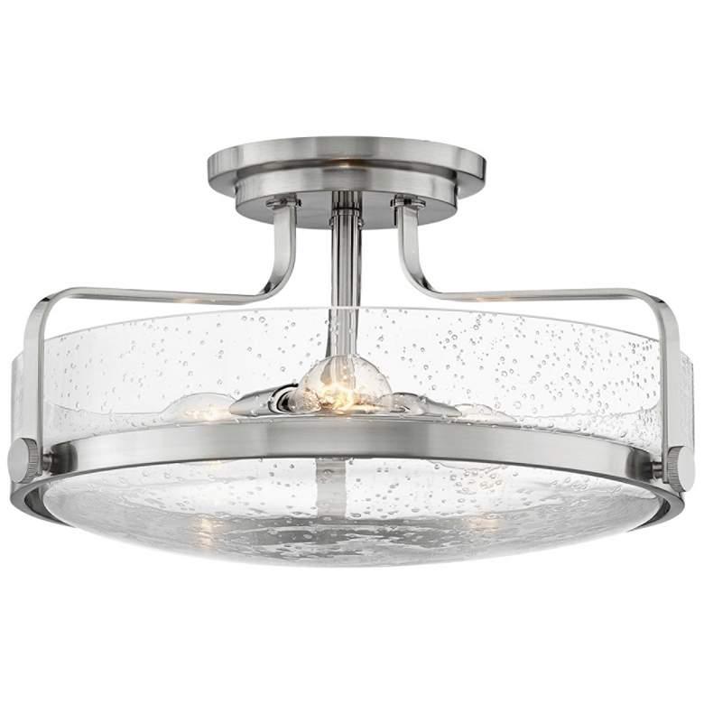 "Hinkley Harper 18"" Wide Brushed Nickel 3-Light Ceiling Light"