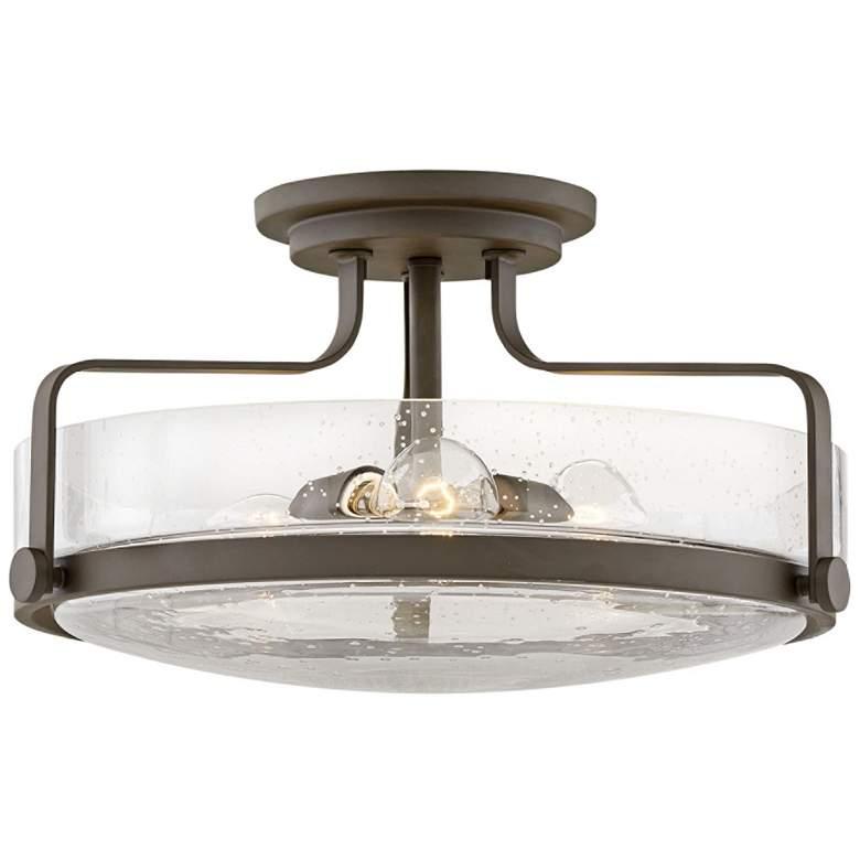 """Hinkley Harper 18""""W Oil-Rubbed Bronze 3-Light Ceiling Light"""