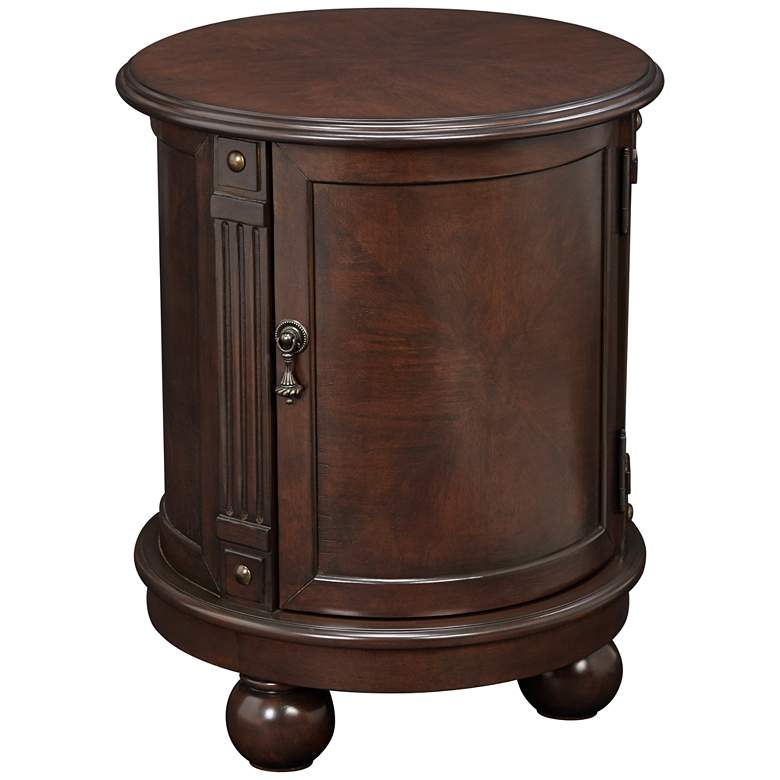 """Kendall 19"""" Wide Espresso Small Round Accent Table"""