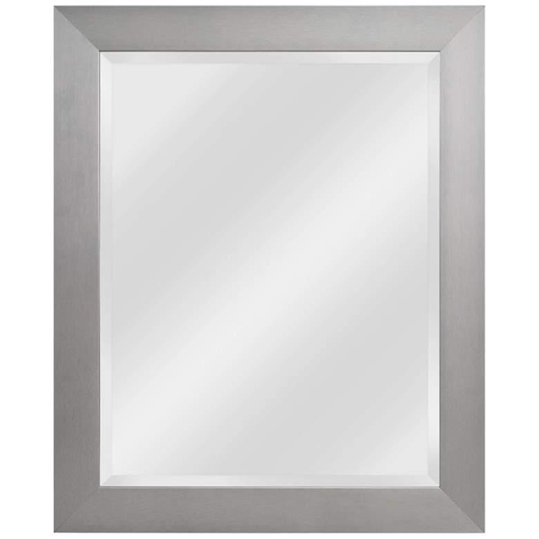 "Drake Brushed Steel 27 1/4"" x 33 1/4"" Wall Mirror"