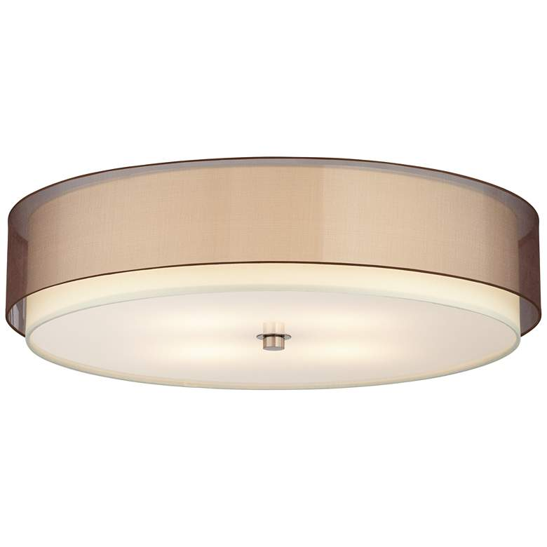"""62X55 - LBY-404- 24""""D Flush mounted Lamp with Bronze Organza"""