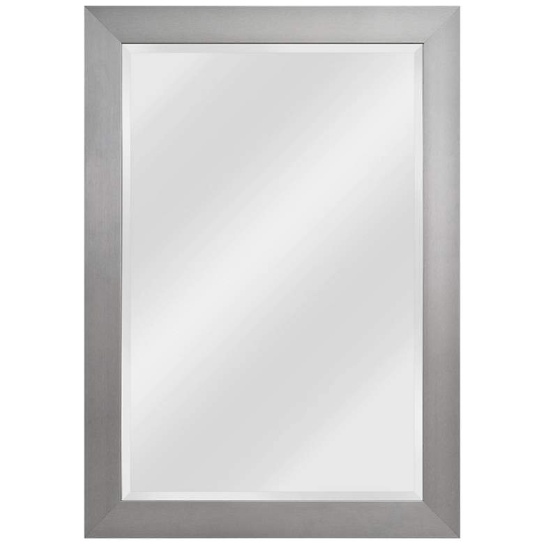 "Drake Brushed Steel 29 1/4"" x 41 1/4"" Wall Mirror"