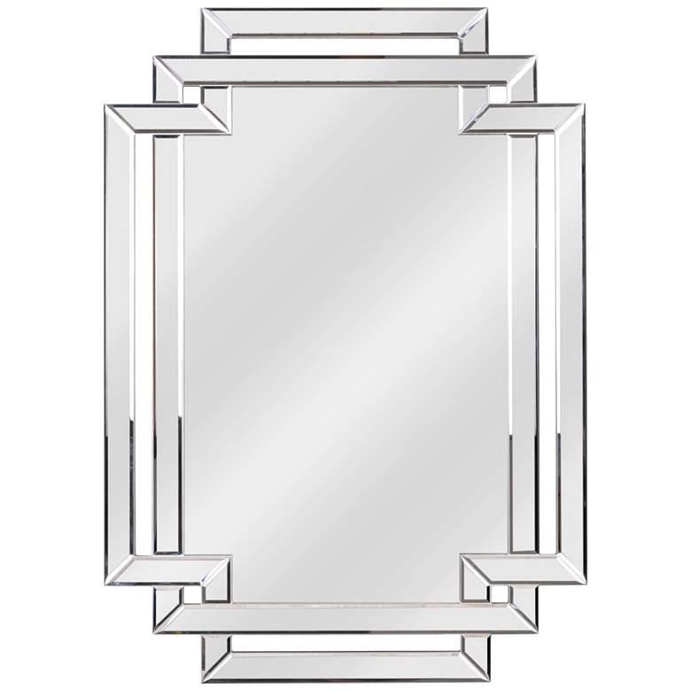 """Kenroy Home Linas 31 1/2"""" x 44"""" Geometric Wall Mirror"""