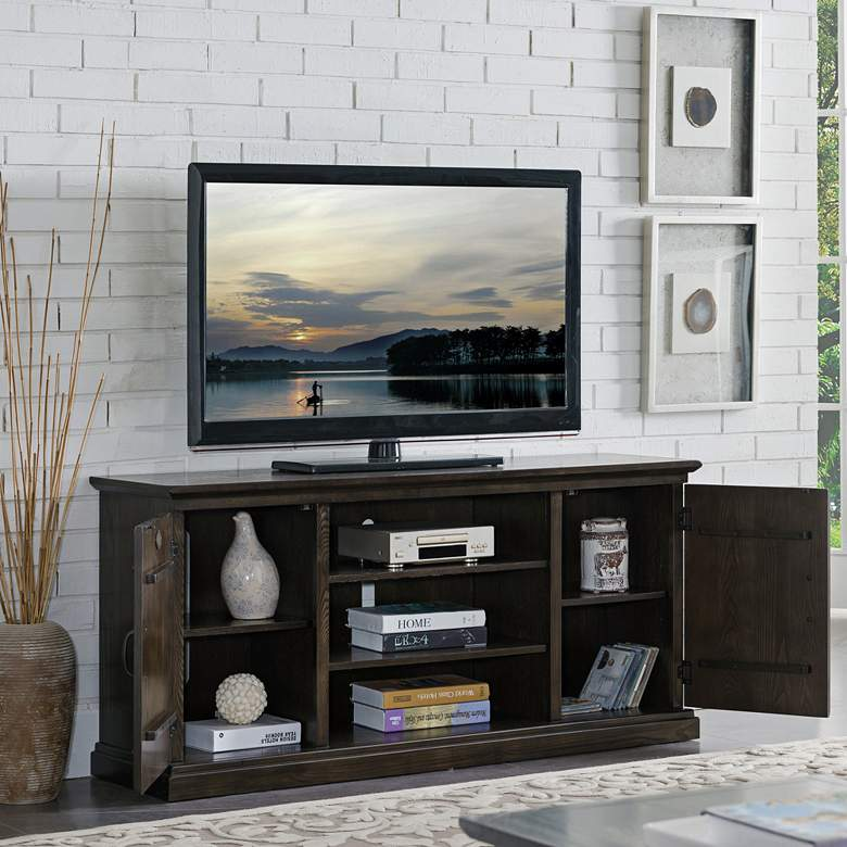 "Hunt Club 54"" Wide Rustic Oak 2-Door TV"