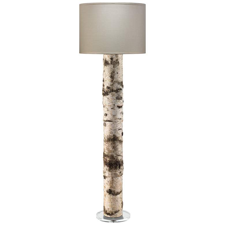 Jamie Young Forrester Birch Veneer Cylindrical Floor Lamp