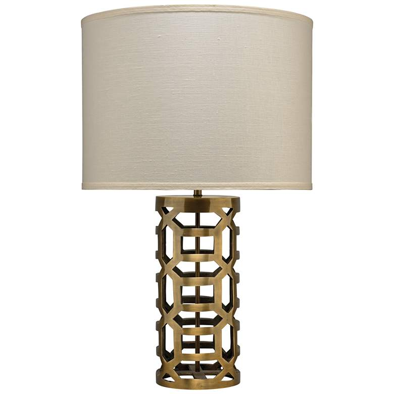 Jamie Young Labyrinth Antique Brass Metal Hollow Table Lamp