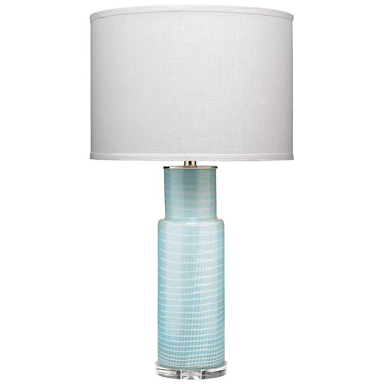 Jamie Young Atwater Sky Blue Glass Column Table Lamp