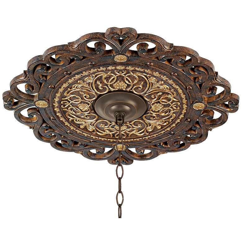 "Zaragoza Golden Bronze 24"" Wide Ceiling Medallion"