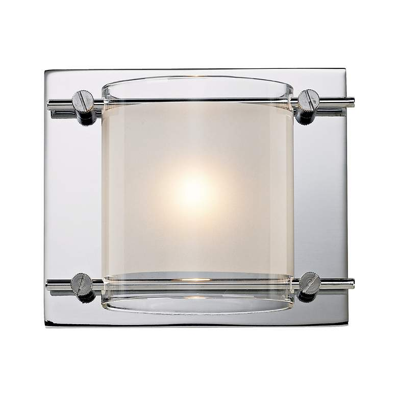 """Possini Euro Glass Bands Collection 5 3/4"""" Wide Wall Sconce"""