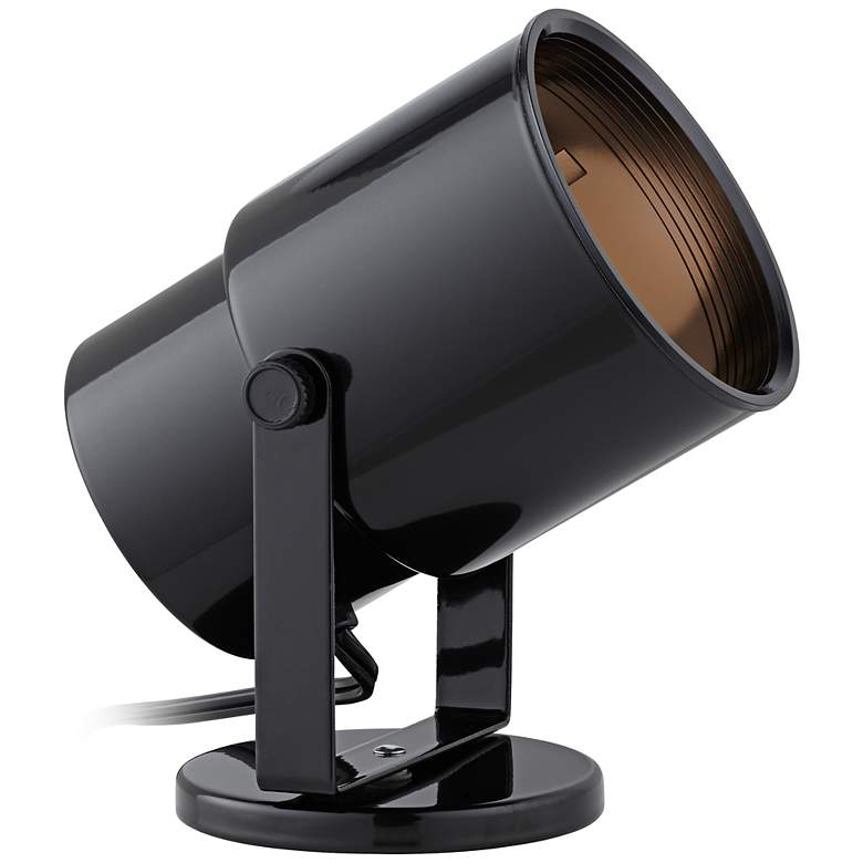 Black Cord-n-Plug Accent Uplight with Foot Switch