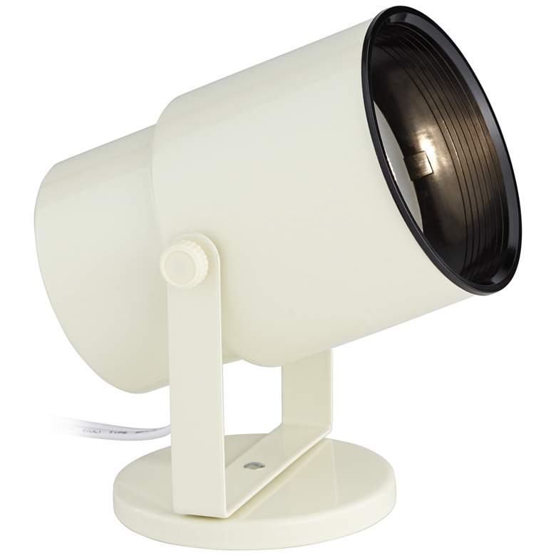 """Almond White Finish 8"""" HIgh Accent Uplight"""