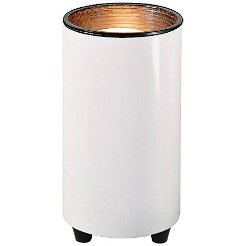 White Finish Mini Can Accent Light with LED Bulb