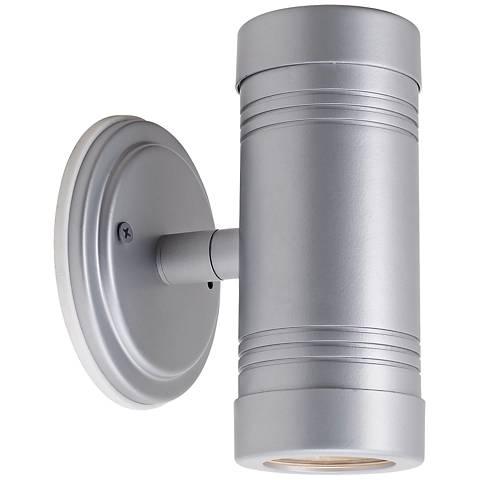 Omni Silver Outdoor Up-Down Adjustable Spotlight