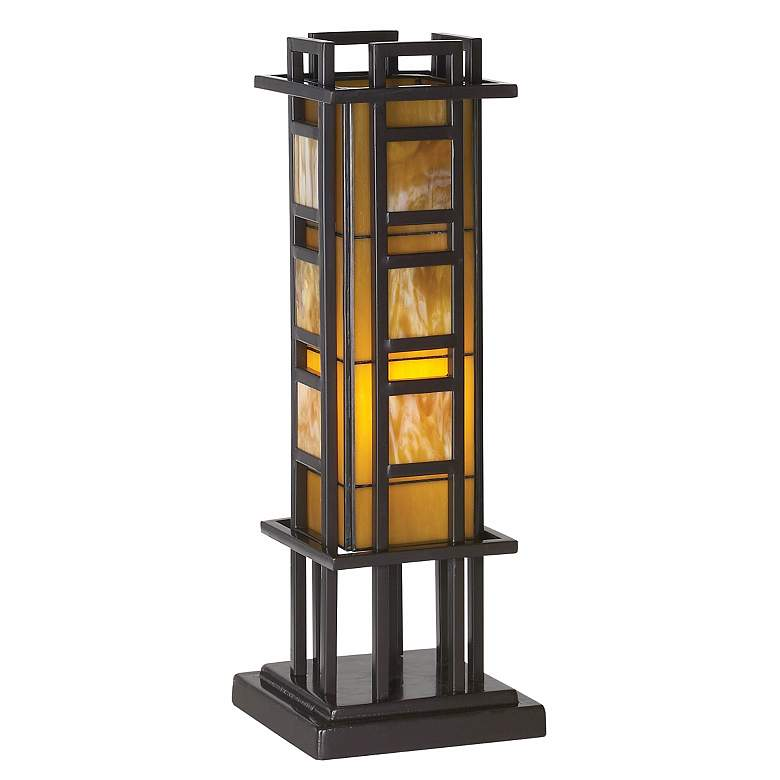 "Prairie Style 20"" High Pillar Accent Table Lamp"