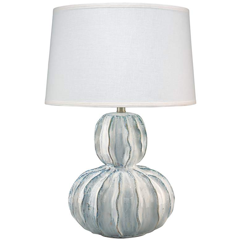 Jamie Young Oceane White Ceramic Gourd Table Lamp