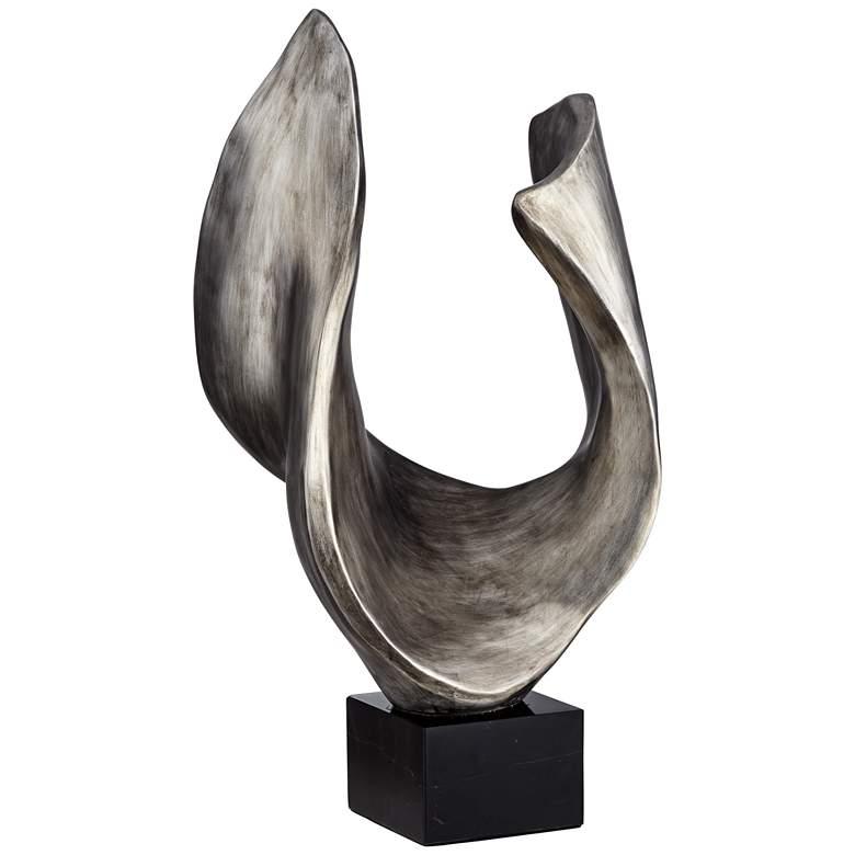 """Hip Bone 27"""" High Silver Abstract Modern Sculpture"""