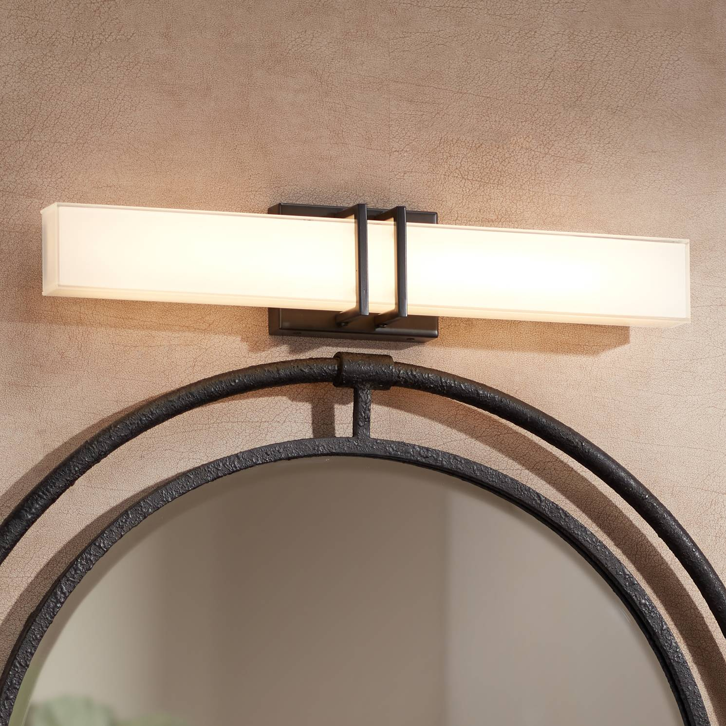 Details About Possini Euro Exeter 24 W Bronze Led Bathroom Vanity Light