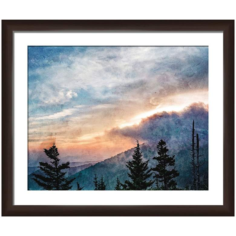 "Serene Woods 22"" Wide Framed Giclee Wall Art"