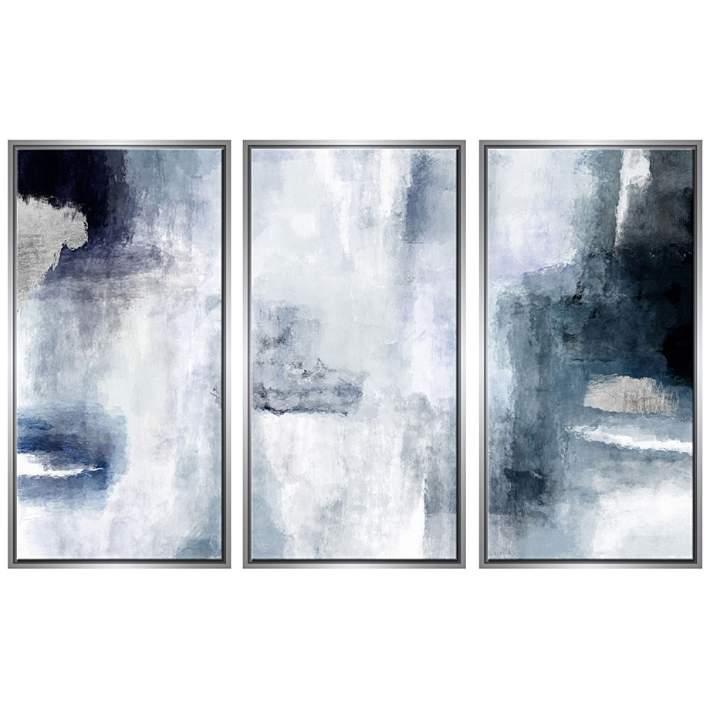 Sky 40 High Triptych 3 Piece Framed Canvas Wall Art 63a91 Lamps Plus