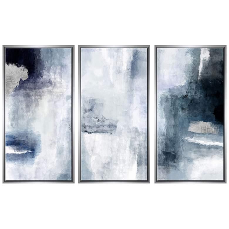 Sky 40 High Triptych 3 Piece Framed Canvas Wall Art