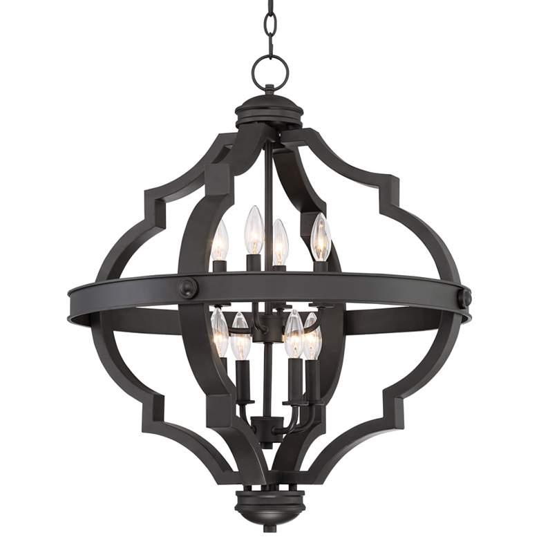 """Sabine 25 1/4"""" Wide Bronze Metal 8-Light Pendant Chandelier"""