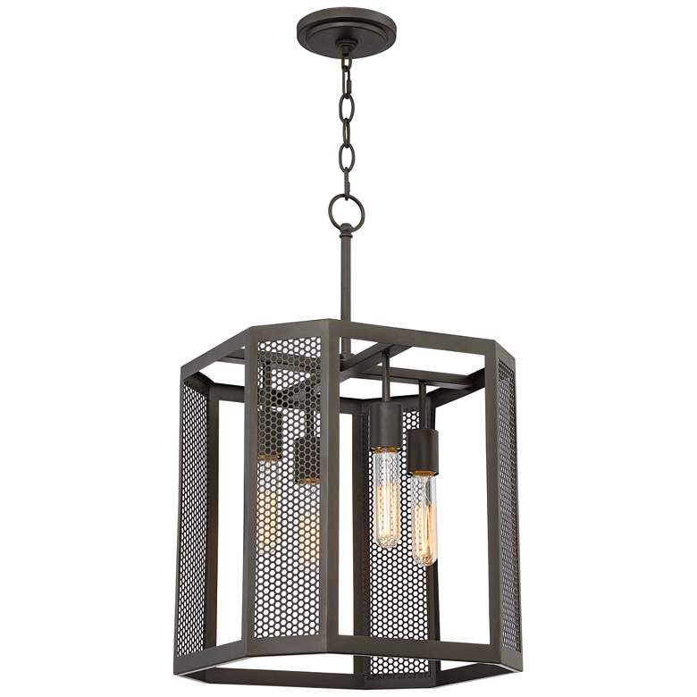 "Aedan 14"" Wide Oil Rubbed Bronze 4-Light Pendant Light"