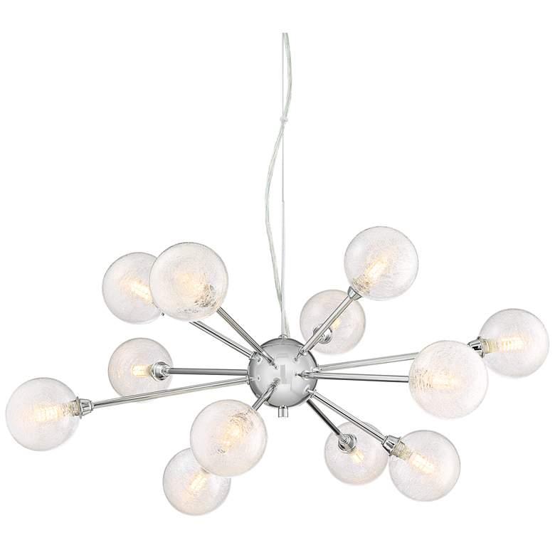 """Possini Euro Karyn 30""""W Chrome 12-Light LED Sputnik Pendant"""