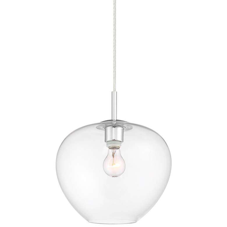 "Teresita 11 1/2"" Wide Chrome and Glass Mini Pendant Light"